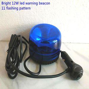 Bright 12W led car warning beacon,truck emergency lights,strobe light,flashing lamp,11flashing mode,waterproof