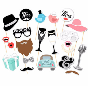Fengrise Mr Mrs Just Married Fun Photo Booth Props Bride Groom Wedding Decoration Photobooth Bridal Shower Event Party Supplies sqcpjB