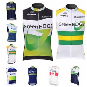 ORICA EDGEGREEN team retro Cycling Sleeveless jersey full zip Running Jersey quick dry MTB Bicycle Clothing Vest 102038