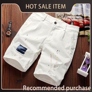 Splash Pantaloncini Camouflage Irqu 2020 Caviglia-lunghezza d'inchiostro Beach nuovo modo di estate personalizzati pantaloni Men Casual Beach Shorts Patch Trendy Uomo