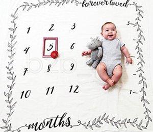 Baby TTA771 Flower Newborn Blankets Letter Soft Creative Wrap Swaddling Print Baby Milestone Fashion Photography Backdrops Blankets Vnuhp