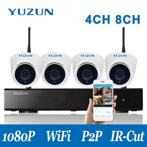 4CH wifi camera 1080p security ip camera cctv surveillance system nvr kits P2P Plug and play Security alarm