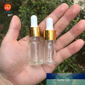 5ML 10ML Transparent Clear Mini Glass Dropper Bottle Esssentail Oil Vials e liquid Wholesale Pipette Bottles Jars 24pcs