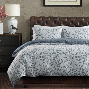 ELKA 100% Cotton Luxury Printed Duvet Cover Sets High Quality for Adult Plant Leaf Bedclothes with Pillowcase Bed Covers Sets