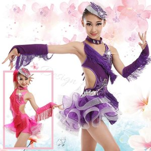 Kinder Pailletten Performance Bühne Dancewear Fransin Latin Dance Dress Girls Samba Salsa Rumba Dance Competition Kleider1