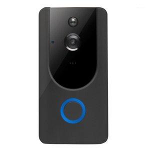 720P HD WiFi Video inalámbrico Dorbell Visual Intercom Cámara con la Visión Noche de Chime Puerta PIR Bell1