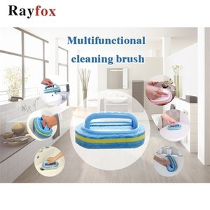 Cleaning Tools Brush Plastic Handle Sponge Bathroom Toilet Glass Wall Clean Kitchen Accessories Gadgets Goods