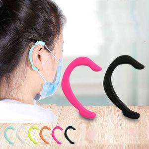 Soft Face Mask Earmuffs Silicone Disposablemask Strap Protector Designer Mask Lanyard Holder Protective Facemask ju0376