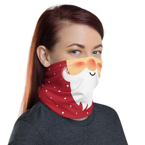 Chirstmas Bandana Neck Gaiter Face Outdoor Washable Design Mask Magic Headscarf Headband Dust Protection Cover Scarf Shield GGE1828