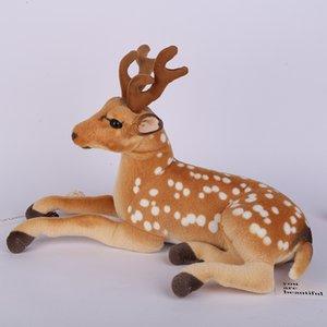 Elk 70 cm Yalan Giraffe Sika Geyiği Açı Simüle Ile Simüle Dolması Hayvanlar Modeli Çocuklar Dağı Noel Decorat Peluş Çocuk Oyuncak Gif