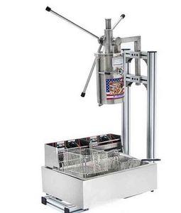 Hot Selling High Quality Commercial 5L Vertical Manual Churrera Churros Machine 12L Fryer free shipping LLFA