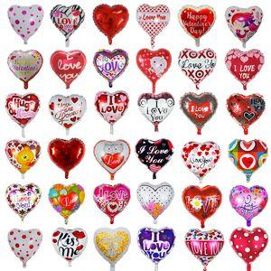 18 pouces en forme de coeur Confession romantique Film d'aluminium Film d'aluminium Je t'aime Valentines Day Décorations Balloon Saint Valentin Cadeaux XD24445