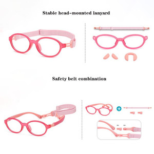 High Quality Anti Blue Light Kids Glasses Children Silicone Goggles Soft Frame Frame Computer Eyeglasses For Boy Girls
