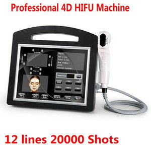 Professional 3D 4D HIFU 12 líneas 20000 disparos de alta intensidad enfocada ultrasonido HIFU Face Lift Machine Remowing Body Slimming DHL