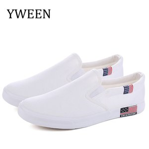 YWEEN Slip On Casual Spring Wholesale Fashion Mens Breathable Canvas Big Size Shoes for Men LJ201120