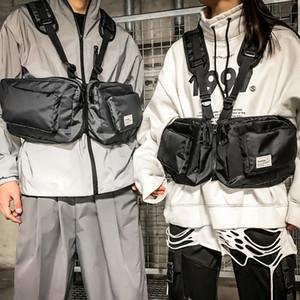 HBP-Männer-taktische Tasche funktionelle Weste Hip-Hop-Streetwear-Tasche-Kabelbaum-Brust-Rigg