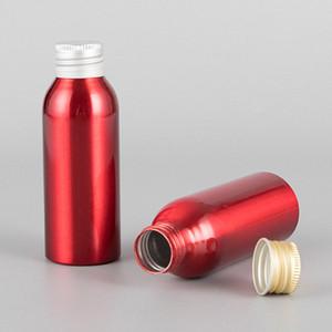 1PC 100мл красного цвета Алюминиевая бутылка с R24 Matt Gold Silver Cap New Cosmetics Лосьон Toner крупнокалиберного Слейте