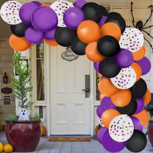 129pcs Christmas balloon Halloween decoration black orange purple balloon chain latex balloon suit