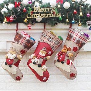 6 Natal christma meias presente ew doces decorações estilo material para casa festiva saco festa infantil ACLPD