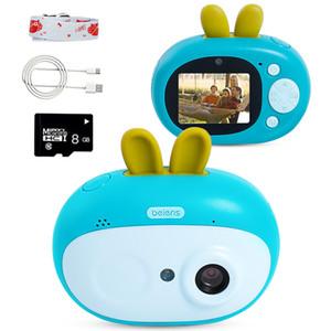 Beiens Kids Digital Cámara Juguetes 8 Megapixeles Niños Regalo de cumpleaños Juguete educativo para niños con 8G Tarjeta SD para niños Edad 3-10 1020