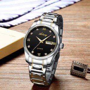 Echte Refined Steel Belt Mens-mechanische Uhr Automatische Kursteilnehmer wasserdichte Uhr der Männer 2020 neue Hersteller-Generation