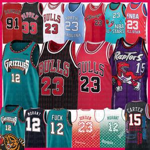 Vince Carter 15 Ja Morant 23 Michael Jersey TorontorapacesMemphisGrizzliesChicagoBull Scottie Pippen, Dennis Rodman