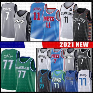 Kyrie Irving 11 Luka 7 Kevin Durant 77 Doncic pallacanestro Jersey Brooklyn