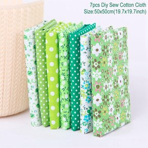 Fengrise 50x50cm 7pcs Printed Cotton Fabric Cloth Sewing Quilting Fabrics Diy Crafts Supplies Crafts Materials Accessories sqcjEX