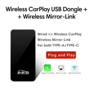 BOX DI DONGLE WIRELESS DONGLE DI CARPLAY 5G con proiezione speculare Auto Connect Smart Carplay Adapter per qualsiasi IPHONE IOS versione Auto Play Box