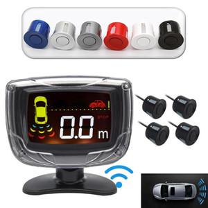Wireless Car Parking Sensor Set LCD Display 4 Probe Backup Reversing Radar Monitor Detector System Car Accessories