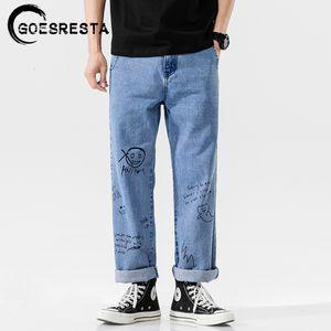 Goesresta coreana fashoins 2020 Calças Hetero Vintage Hip Hop Streetwear Harem Pants Harajuku Baggy Jeans