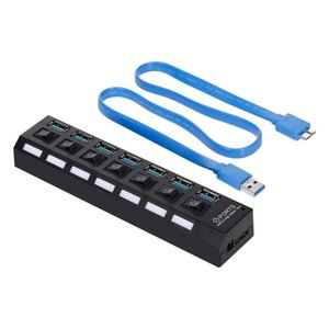 3.0 HUB USB Splitter 7-Port USB 7 Ports Expander with Switch For PC