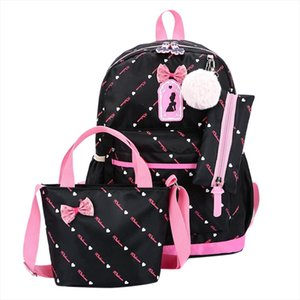 Printing Backpack 2020 New folk custom Travel Bags Teenage Girls Children Schoolbag Women School Bags Three piece suit Zer