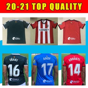 20-21 Tailândia Ud Logroñés Homem Futebol Jerseys Zelu Vitória Andy Naki Away LoGrones 20 21 Camisa de Futebol S-2XL