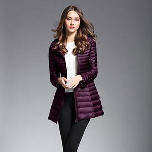 2020 Novo inverno longo casaco quente mulheres ultra luz branca pato para baixo jaqueta com capuz parka feminina jaquetas à prova de vento down casaco