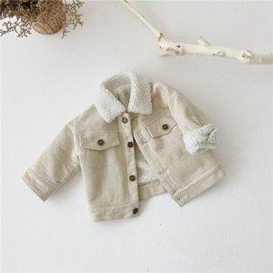 Çocuk Erkek Kız Sıcak Ceket Uzun Kollu Katı Renk Sonbahar Bebek Ceket Kalınlaşmak Giyim Rahat Aby Kız Giysileri Kış