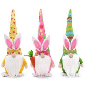 Пасхальный кролик гном украшения пасхальная безликая кукла пасхальный плюшевый карлик домашняя вечеринка украшения детские игрушки