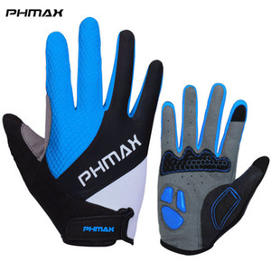 PHMAX Liquid Silicone Cycling Gloves Half Finger Anti Slip Gel Pad Motorcycle MTB Bike Gloves Men Women Sports Bicycle Gloves 201020