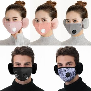DHL Shipping 2 In 1 Ear Protective Mask for Woman Man Mouth Cover Earmuff Windproof Warmer Face Masks Adult Party Gifts X740FZ