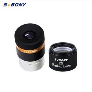 SVBONY Aspheric Eyepiece Teleskop HD Geniş Açı 1.25 62 De Eyepiece Lens 4mm + 2x Barlow Lens için Monoküler Dürbünler F9301AA
