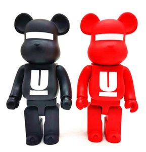 HOT 400% 28CM Bearbrick Evade glue Red and Black bear U style of figures Toy For Collectors Be@rbrick Art Work model decorations kids gift