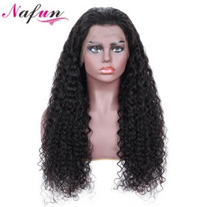 NAFUN Kinky Curly 13x4 Lace Front Wigs 8-34 Inch Natural Hairline Remy Human Hair 4x4 Lace Closure Wigs For Black Woman Thick
