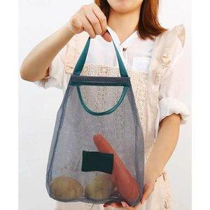 تنظيم المطبخ الخضار حقيبة تخزين متعدد الأغراض الإبداعية الفاكهة الجدار شنقا حقيبة مقبل البصل الثوم أكياس تخزين المطبخ HHD4486
