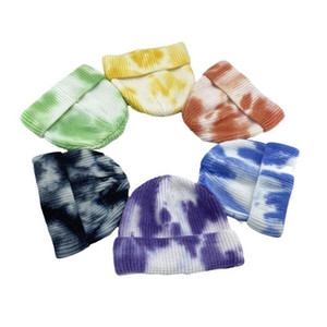 Classical Watermelon Design Hat Basic Skull Caps With Colorful Tie-dyeing Fashion Adult Colors Warm Sport Beanie Beautiful Women Bonnet