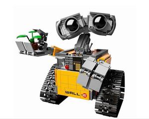 687 шт. 16003 Идеи Стены E Создание Блоки Робот Модель Строительный комплект Кирпичи Игрушки Детские Совместимые Новые C1114