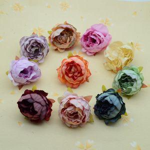 100pcs 인공 식물 파티 용품 크리스마스 홈 정원 장식 액세서리 가짜 Stamen Flower DIY 선물 화환 실크 모란 T200903