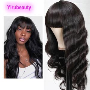 Indische Jungfrau-Haar-Vollautomat gerade 10-28inch Natürliche Farbe Bob Bobs-Mechanismus Perücke Body Wave 150% Dichte maschinengemachte kapsellose Perücken