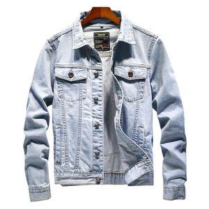 Rlyaeiz 2020 Spring Autumn Casual Denim Jacket Men Vintage Bomber Jacket Men High Quality Blue Cowboy Mens Jeans Jackets Coats