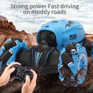2.4G elektrische Fernbedienung Off Road Gesture Sensing Doppelseitige Flip RC Stunt Car LED Light RC Stunt Car RC-Spielzeug-Geschenk