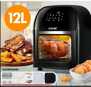 10L 12.7QT Electric Air Fryer Oven Turbostar Rotisserie Dehydrator LED Large Capacity Chicken Frying Machine 5in11